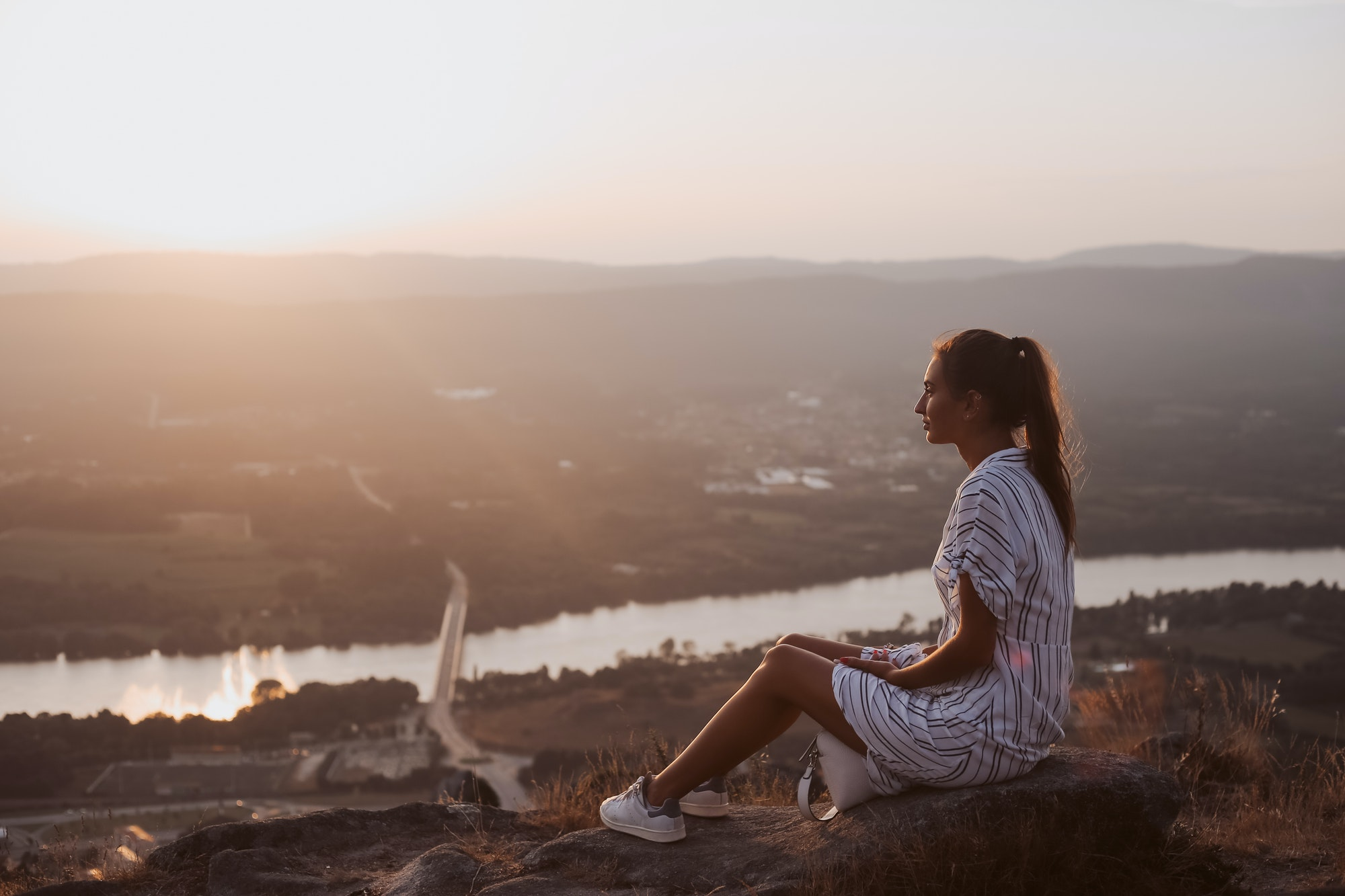 Woman enjoying a fantastic view